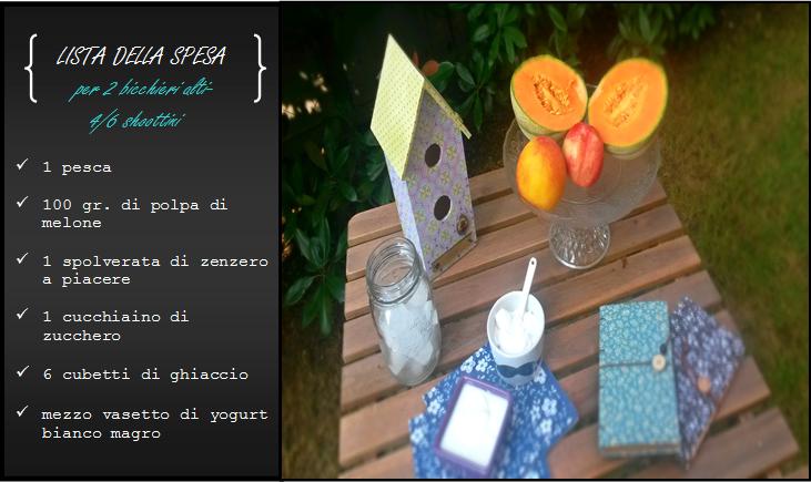 lista spesa smoothie melone, pesca zenzero_Civico30