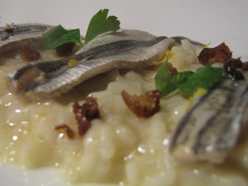 riso pane, burro e alici. www.civico30.net