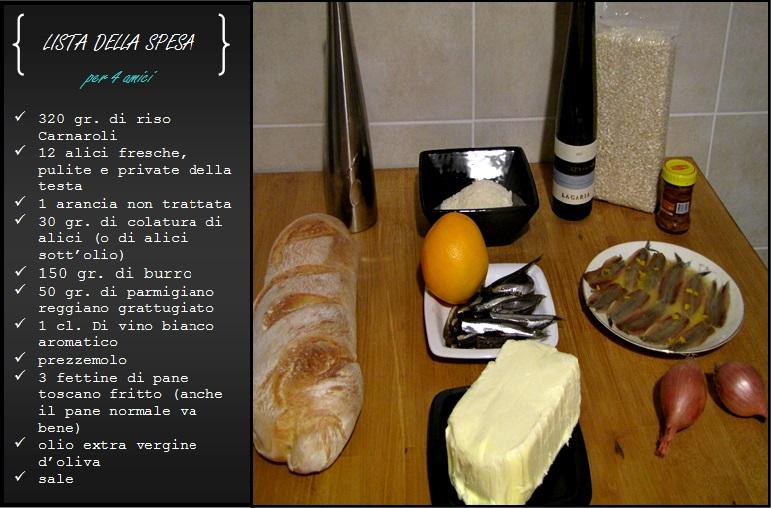 Lista della spesa_risotto, pane burro e alici www.civico30.net