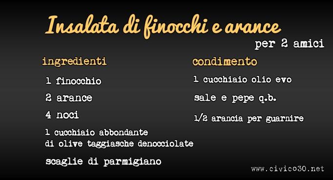 insalata di finocchi e arance www.civico30.net