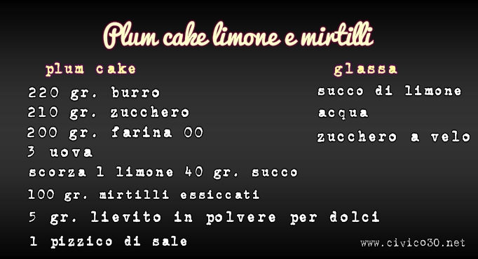 plum cake mirtilli e limone www.civco30.net
