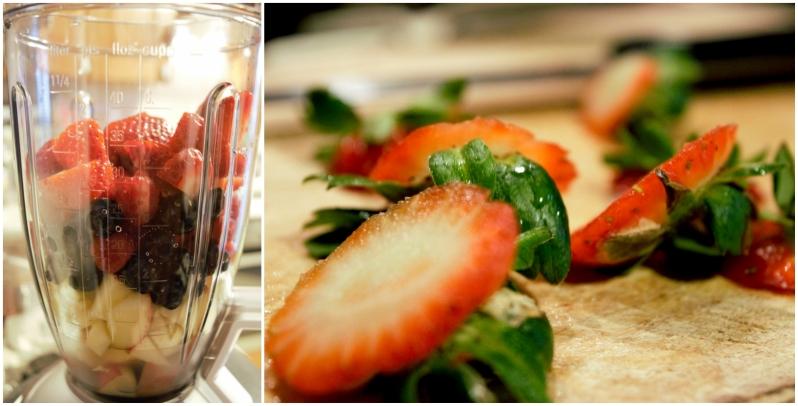 preparazione smoothie di bosco - www.civico30.net