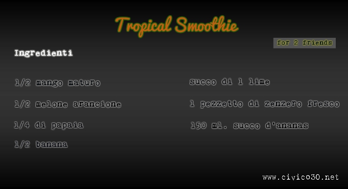 lavagna tropical smoothie - civico30