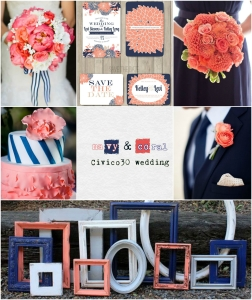 navy&coral palette