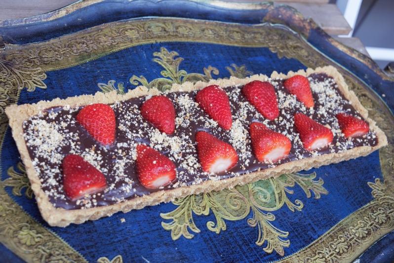 torta biscotti e fragole