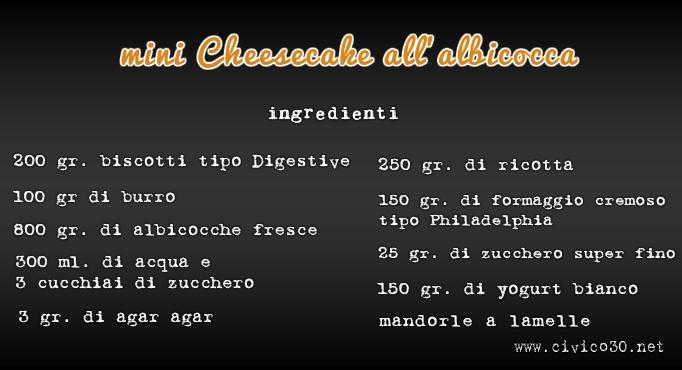 lavagna cheese cake albicocca