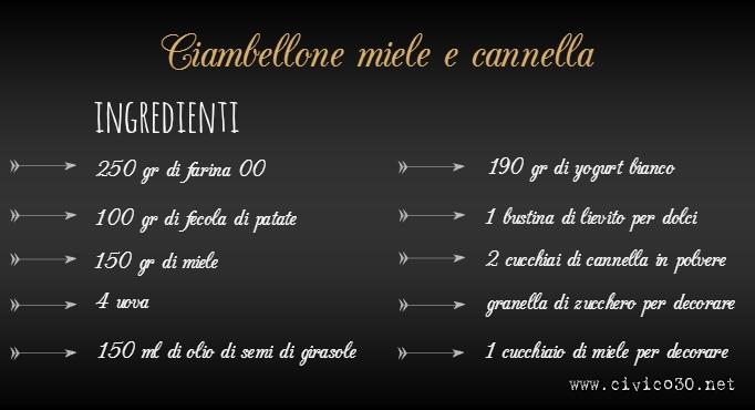 lavagna ciambellone miele e cannella_civico30